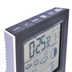 Solight meteostanice, černobílý displej, vniřtní/venkovní teplota, vnitřní/venkovní vlhkost, černá/bílá