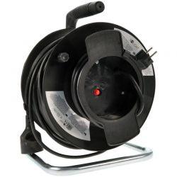 Solight prodlužovací přívod na bubnu, 1 zásuvka, černý, 50m