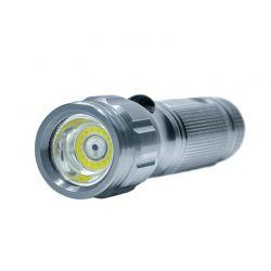 Solight svítilna, 3W COB + infra laser, stříbrná, 3x AAA, se šňůrkou