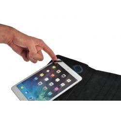 Solight univerzální pouzdro - desky, pogumovaný polyuretan, flexi úchyty, pro tablet nebo čtečku 7'', černé