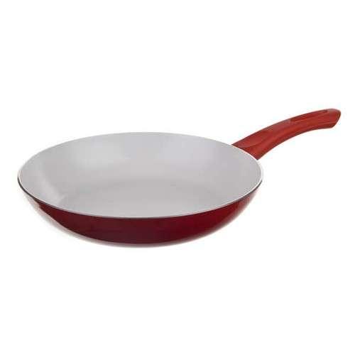 Keramická pánev pr. 24 cm výška 4,8 cm - Bílý 2 vrstvý keramický povrch EASYFLON - Red Culinaria Banquet