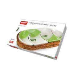 Mísa 4 dílná v košíku 30,5 cm Black Olive Banquet