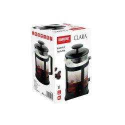 Konvice na kávu nebo čaj se sítkem CLARA 1 l pro tzv. French press . Kafeteria Banquet