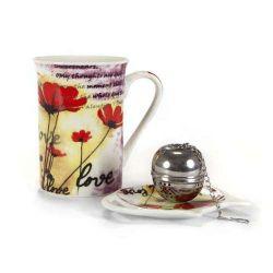 Tří dílná čajová sada Poppy