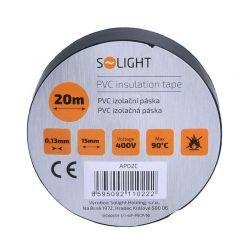 Solight izolační páska, 15mm x 0,13mm x 20m, černá