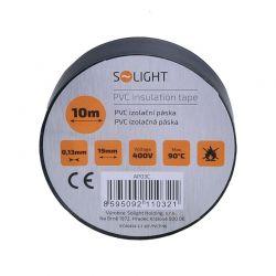 Solight izolační páska, 19mm x 0,13mm x 10m, černá