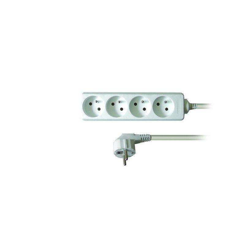 Solight prodlužovací přívod, 4 zásuvky, bílý, 1,5m