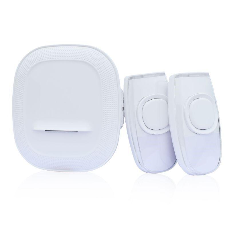 Solight bezdrátový zvonek, 2 tlačítka, do zásuvky, 200m, bílý, learning code 1L62DT