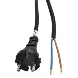 Solight flexo šňůra, 2x 1,5mm2, gumová, černá, 5m