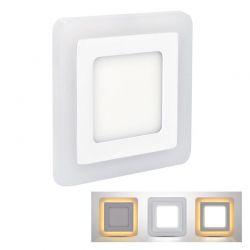 Solight LED podsvícený panel, podhledový, 6W+3W, 400lm, 4000K, čtvercový