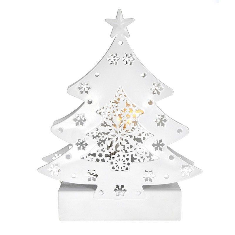 Solight LED kovový vánoční stromek, 2x AA