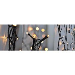 Solight LED venkovní vánoční řetěz, 50 LED, 5m, přívod 3m, 8 funkcí, časovač, IP44, teplá bílá