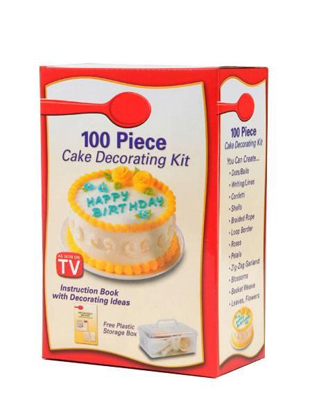 Zdobička dortů s nástavci - zdobící sada 100 ks