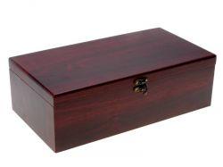 Dárkový box dvojitý na víno - sada - truhla + 4 ks příslušenství