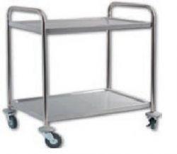 Manipulační a servírovací vozík - provedení 2 police - Přepravní vozík nerez