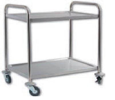 Manipulační a sevírovací vozík - provedení 2 police - Servírovací vozík nerez