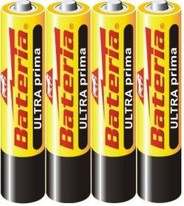 Tužková baterie menší - ULTRAprima AAA / R03 1,5 V - 1 ks Bateria