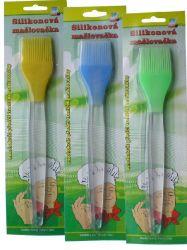Mašlovačka silikon - Zelená - šířka štetce 4 cm
