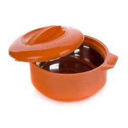 Termohrnec 1,5L Apetit termomísa s poklicí, barva oranžová