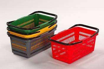Nákupní košíky Červený