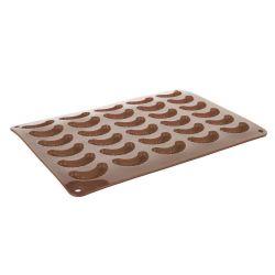 Silikonová forma - rohlíčky 30 ks - 35x25x1,3 cm, 165 gr CULINARIA, hnědá Banquet