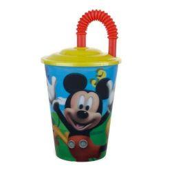 Pohárek s brčkem na pití 450ml, Mickey Mouse