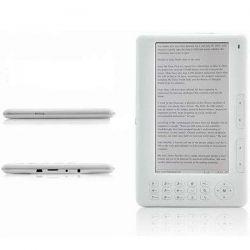 Elektronická čtečka knih E-BOOK 7'' Bílý E-Reader 4GB Ebook