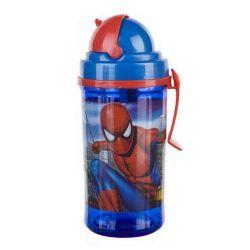 Láhev s brčkem 350ml, Spiderman
