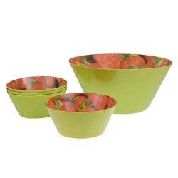 sada melaminových salátových misek Strawberry 5 ks