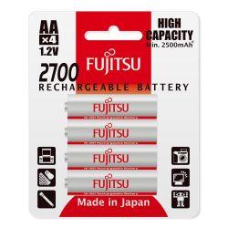 Fujitsu nabíjecí NiMH baterie 2700 R06/AA, 2700mAh, blistr 4ks
