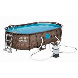 Bazén Power Steel Rattan Swim Vista 4,88 x 3,05 x 1,07 m - 56946