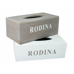 Dřevěná krabička na kapesníčky tissue RODINA