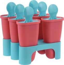Forma na zmrzlinu - Forma na nanuky 6 ks jednotlivé ve stojánku