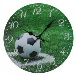 Hodiny nástěnné fotbalový míč 34 cm