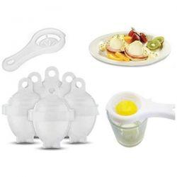 Forma na vaření vajec 6 ks formy na vejce + 1ks oddělovače bílku InnovaGoods