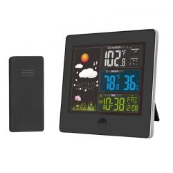 Solight meteostanice, barevný LCD, teplota, vlhkost,RCC, černá