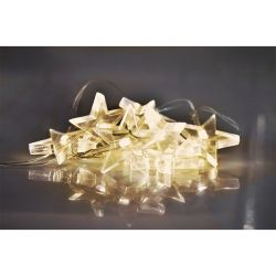 Solight LED vánoční řetěz, hvězdy, 1,5m, 10 LED, 2 x AA, žluté světlo