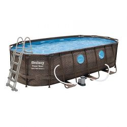 Bazén Power Steel Rattan Swim Vista 5,49 x 2,74 x 1,22 m - 56716