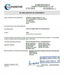 LUNGENE COVID -19 Antigen Rapid Kit (Saliva) test ze slin - 1 ks Hangzhou Clongene Biotech