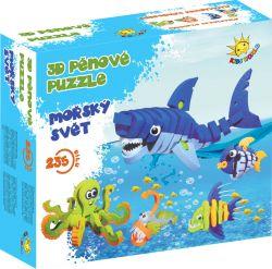 3D pěnové puzzle Mořský svět, 1 sada