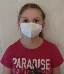 Dětský respirátor FFP2 - 10 ks - Bílý YWSH
