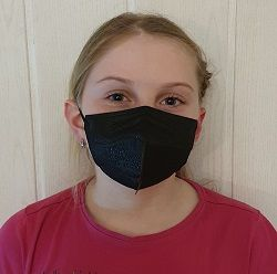 Dětský respirátor FFP2 - 10 ks - Černý YWSH