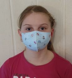 Dětský respirátor FFP2 - 10 ks - Houbičky s kravičkou YWSH