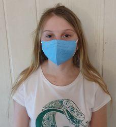 Dětský respirátor FFP2 - 10 ks - Modrý YIFENGYUAN