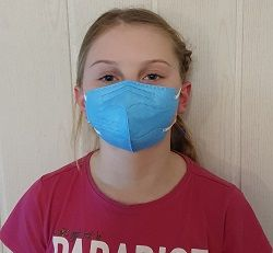 Dětský respirátor FFP2 - 10 ks - Modrý YWSH