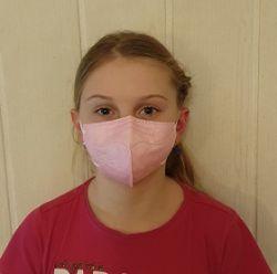 Dětský respirátor FFP2 - 10 ks - Růžový YWSH