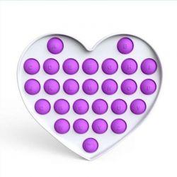 Pop it GMEX - fialové srdce abeceda