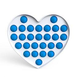Pop it GMEX - modré srdce abeceda