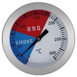Teploměr do udírny nebo grilu GMEX nerez do 300 °C