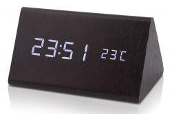 Dřevěný digitální LED budík WAC-027, samostatně